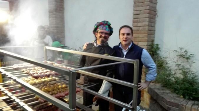 Dell'Aquila con il sindaco Angeli