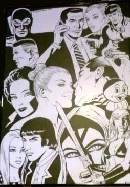 Il manifesto che raccoglie alcuni dei personaggi principali disegnati da Giorgio Montorio