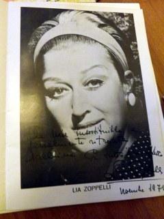La dedica di Lia Zoppelli a Neli Frascari