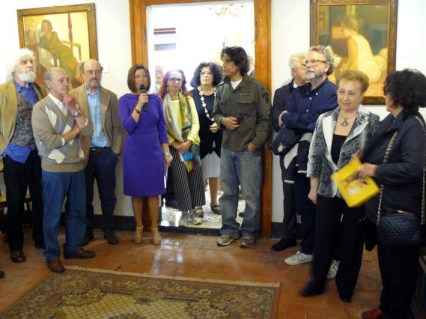 Arianna Sartori presenta l'inaugurazione