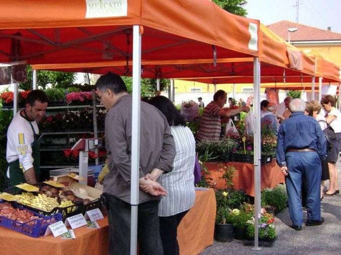 Mercato Contadino  di CASTEL d'ARIO -browsing through fruits and vegetables