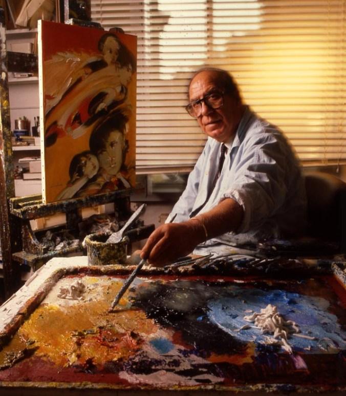 Remo Brindisi nel suo studio.jpg
