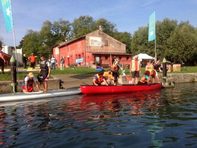 mincio in canoa - foto Parco del Mincio