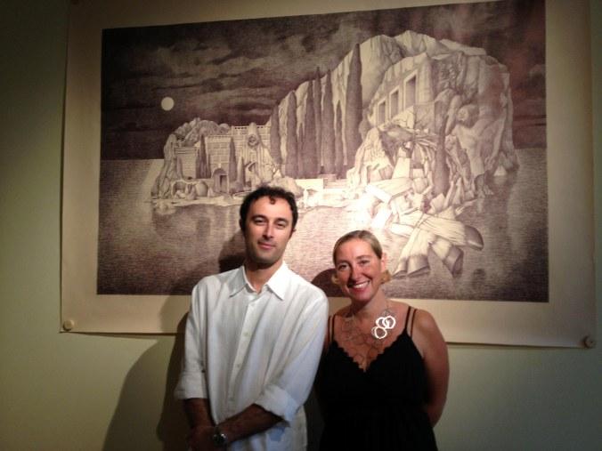 lartista-Marcello-Carrà-e-Maria-Livia-Brunelli-direttrice-della-MLB-home-gallery