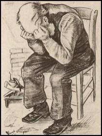 """""""Vecchio seduto"""" Vincent Van Gogh"""