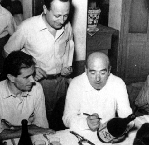 Dino Villani e Cesare Zavattini a Suzzara