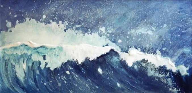mareggiata-2014-olio-su-tela
