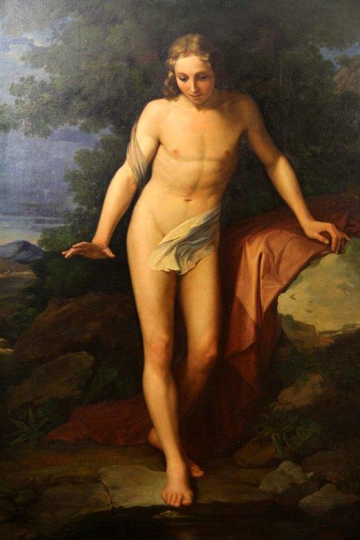 P. Benvenuti, Narciso alla fonte, cm 158x108.JPG