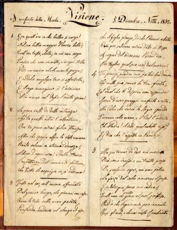 poemetto, prima pagina