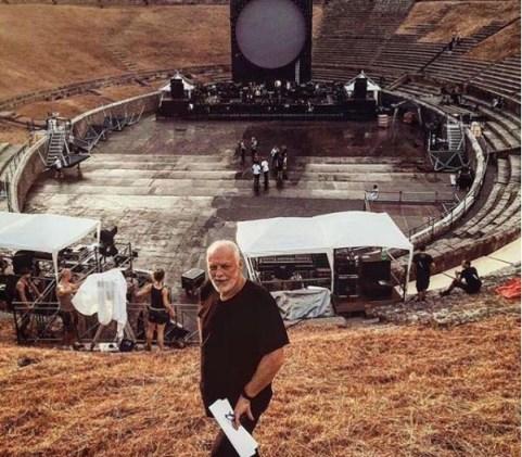 David Gilmour a Pompei