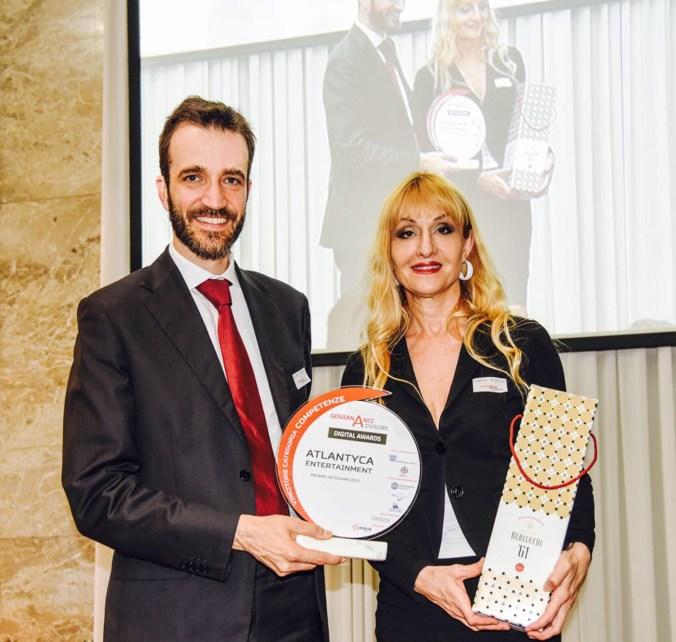 Filippo Renga, Direttore Operativo Osservatorio Digital Finance Politecnico di Milano, a Claudia Mazzucco, CEO di Atlantyca