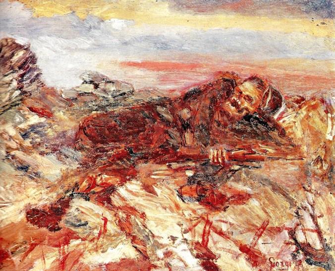 Antonio Ruggero Giorgi (1887-1983) Milite ignoto, 1917, olio su tela, cm. 20 x 25