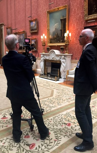 Filming inside The Queen's Gallery- ® EXHIBITION ON SCREEN (David Bickerstaff)