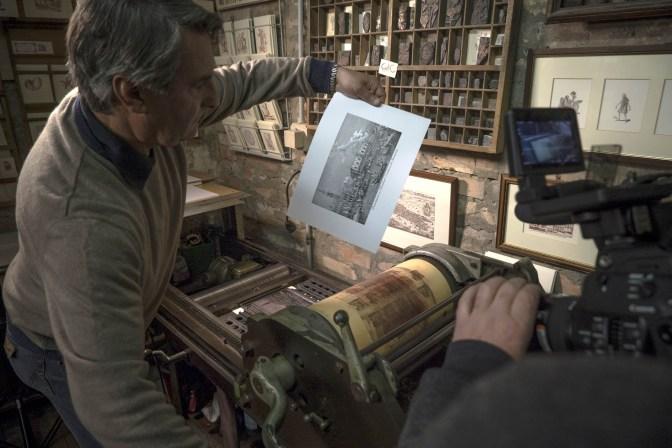Gianni Basso printing -® EXHIBITION ON SCREEN (David Bickerstaff)
