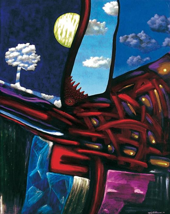 BELTRAMI - Il risveglio del drago, 2016, alchidico su tela, 100x80 (800)