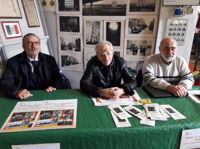 da sx Mario Anghi, Nicolò Colangelo e Maurizio Fochi