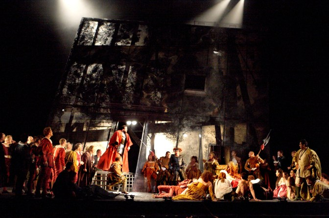 RIGOLETTO by Verdi ; (Gilda) ; Directed by David McVicar ; Set designed by Michael Vale ; Costume design by Tanya McCallin ; Lighting design by Paule Constable ; The Royal Opera ; At the Royal Opera House, London, UK ; 9 September 2014 ; Credit: Catherine Ashmore / Royal Opera House / ArenaPAL ;