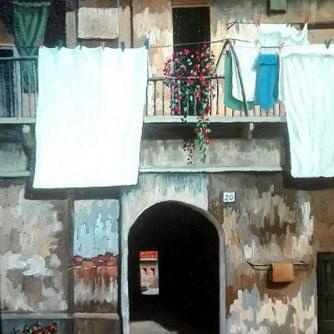 3 LUIGI MELLA_ Interno in Via Fratelli di Dio 2005_ 50x70
