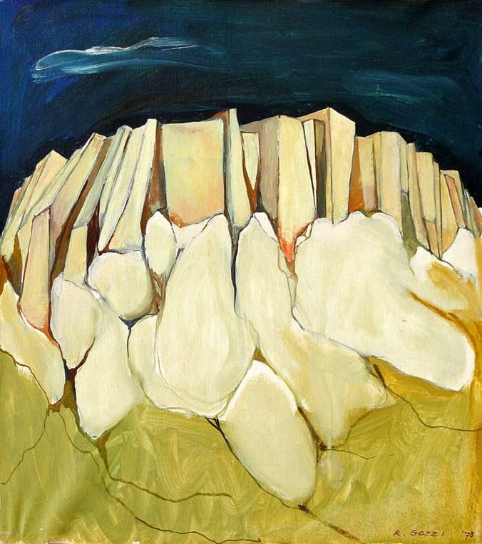GOZZI RINARDO - Bismantova, 1978, olio su tela, cm 50x45.jpg