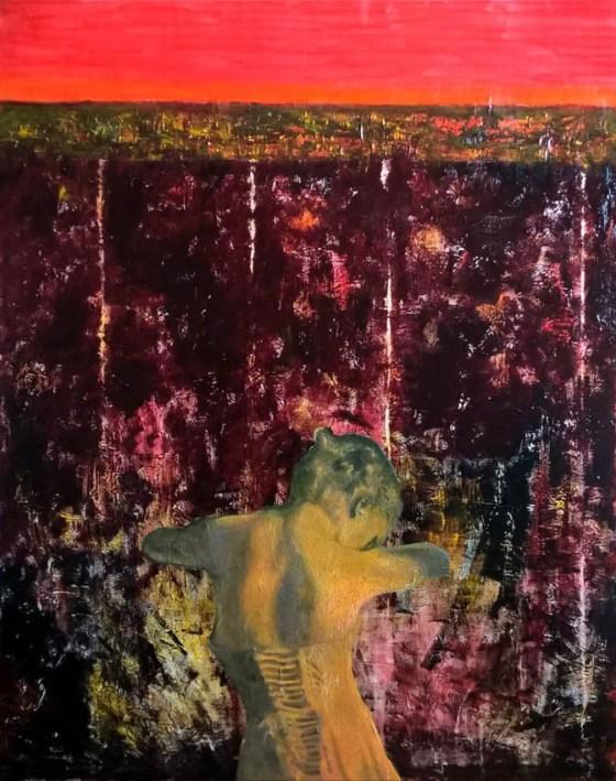 Giorgio Ferretti, Senza titolo, 2018, tecnica mista, cm. 100x80
