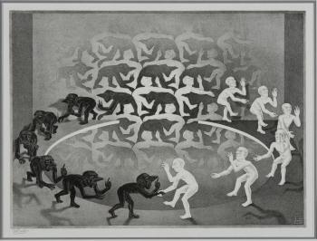 Maurits_Cornelis_Escher,_Encounter