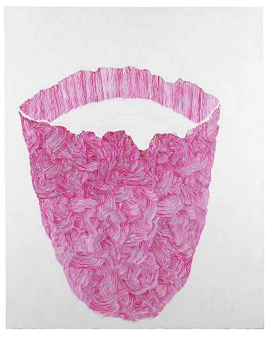 Peter Kim - Senza Titolo, 2016, olio su tela, 152 x 122 cm