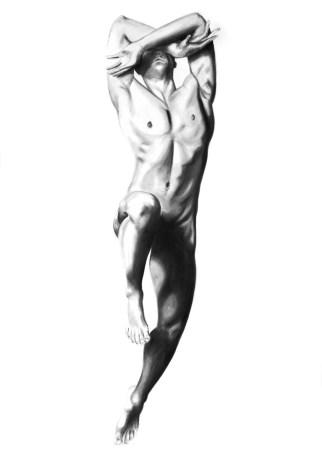 JUMP 75, oil on canvas 70x100 cm 2018