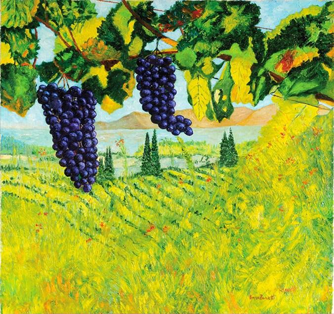 Il filare di uva nera.jpg