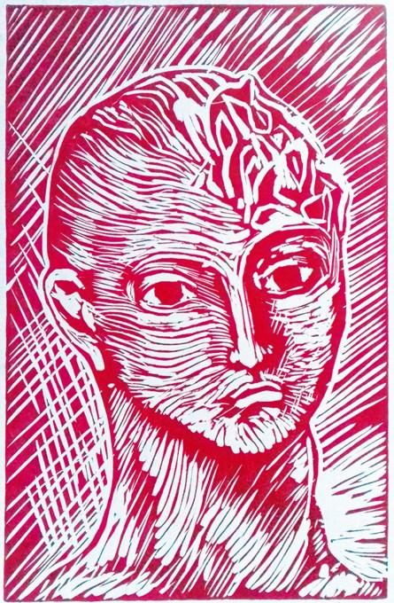 COSIMO FELLINE - Archetipo, 2018, xilografia mm 230x150