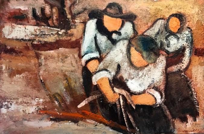 Sandro negri - dipinto ad olio
