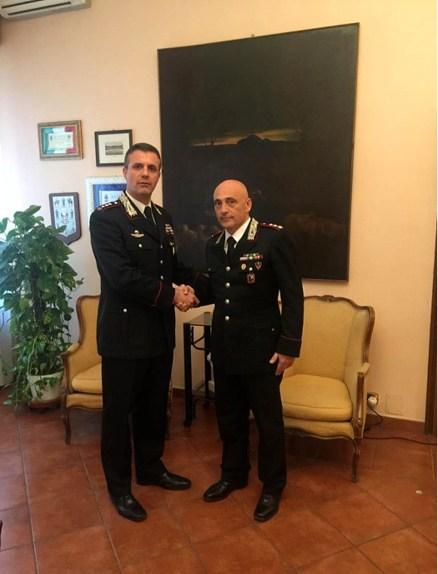 Il colonnello Federici e il neo Tenente Colonnello Garzya.jpg