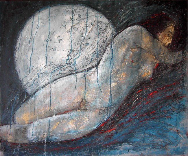Iside Svelata 2018 cm 100 x 120 tecnica mista su tela (1)
