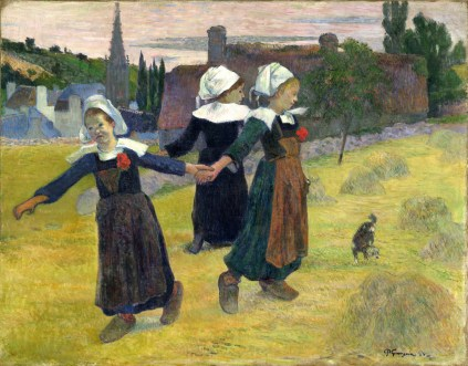 Paul Gauguin (French, 1848 - 1903), Breton Girls Dancing, Pont-Aven, 1888, oil on canvas, Collection of Mr. and Mrs. Paul Mellon 1983.1.19