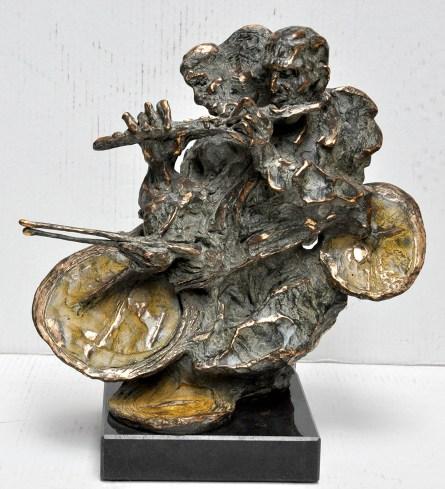 46 Jazz man, 2003, bronzo, cm33x34.5x18.5