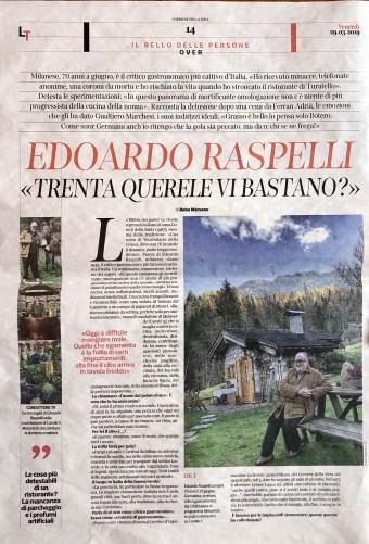 CORRIERE DELLA SERA 23-3-2019 Liberi Tutti Raspelli pagina 14
