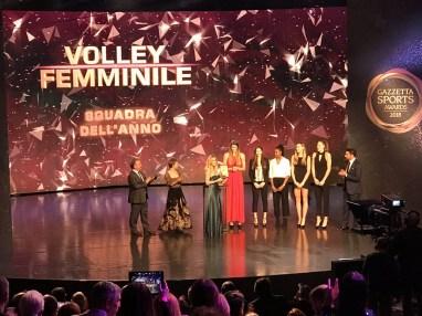 Foto Nazionale Femminile ai Gazzetta Sports Awards