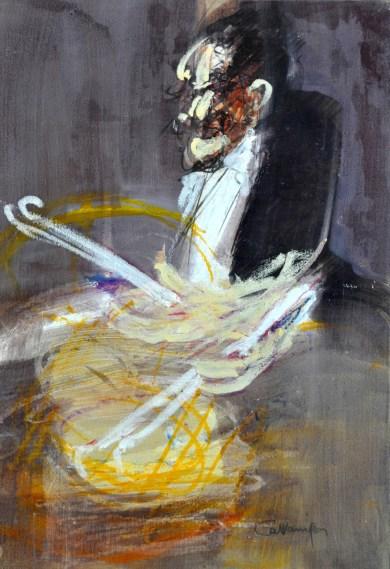 Jazz man, 2002, tecnica mista su carta, cm 50x35.jpg