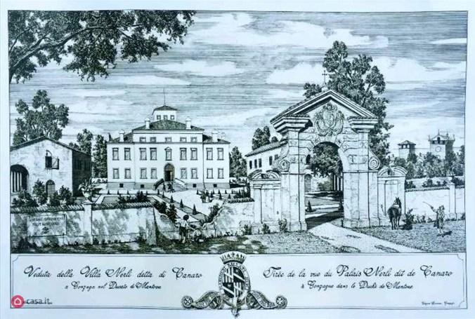 Villa Canaro nel 1700