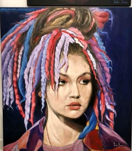 Nadia Buroni Gigì olio su tela 100x120