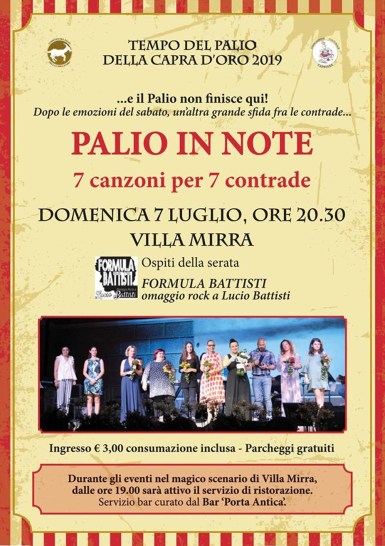 PALIO IN NOTE