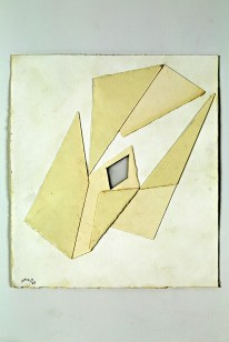Angelo Savelli, Project, 1982, acrilico, nylon e cartoncino, cm. 28x28,5