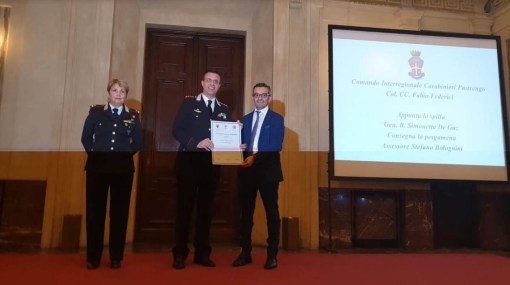 Colonnello Federici premiato a Milano 1
