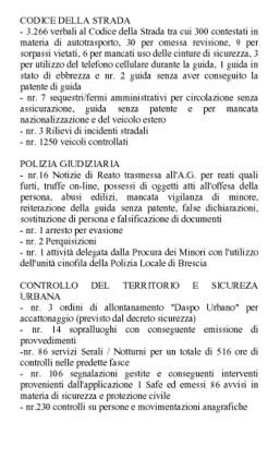 Tabella risultati 2019 della Polizia Locale di Rodigo copia