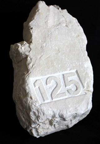pietra numeraria 125 scultura 2019