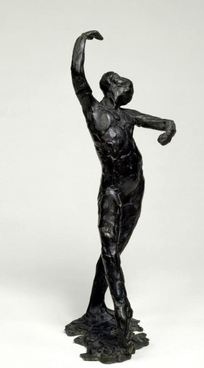 Edgar Degas Spanish Dance (Danse espagnole) 1896–1911 (cast posthumously 1919–26) Bronze 15 7/8 x 6 1/2 x 7 inches (40.3 x 16.5 x 17.8 cm) Solomon R. Guggenheim Museum, New York Thannhauser Collection, Gift, Justin K. Thannhauser, 1978 78.2514.9 Sculpture Impressionism Photo taken 10/2007