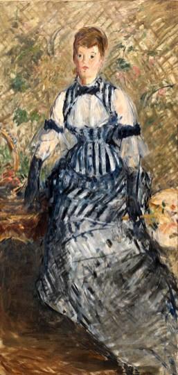 9. Manet Donna con vestito a righe