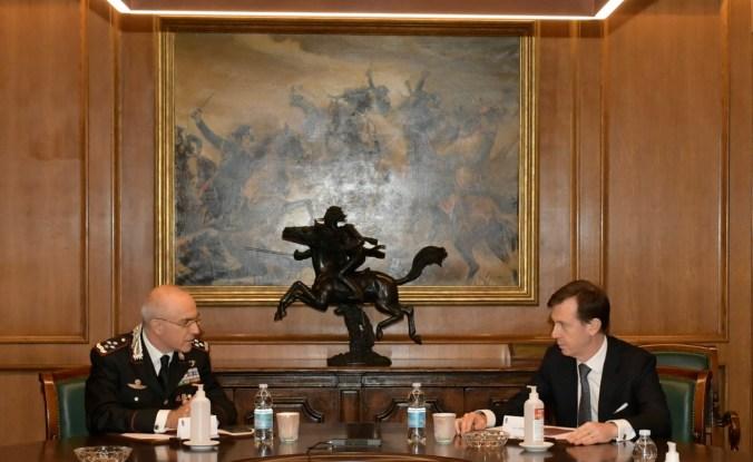 Comandante Generale dell'Arma dei Carabinieri, Gen. C.A. Giovanni Nistri e l'Amministratore delegato di CDP, Fabrizio Palermo