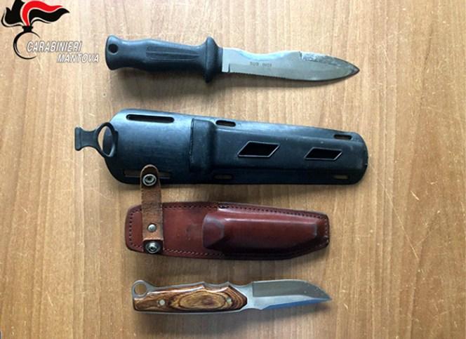 coltelli - carabinieri castiglione delle stiviere