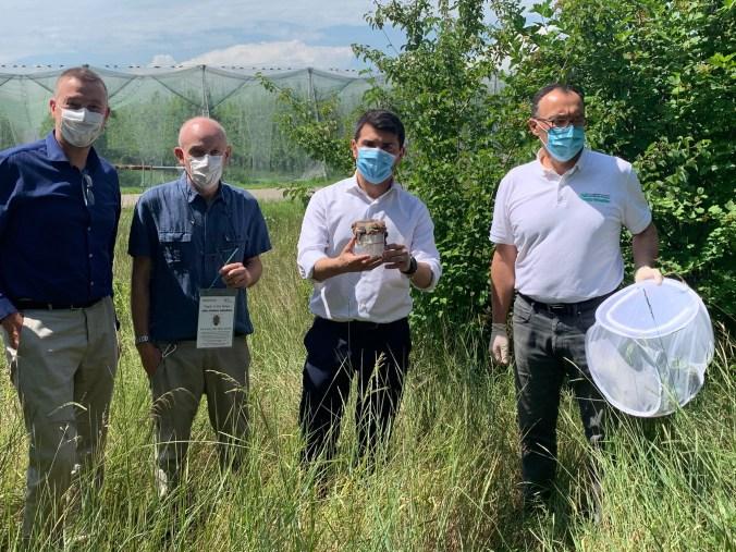 Assessore Mammi coi tecnici del Servizio fitosanitario modenese a Campogalliano