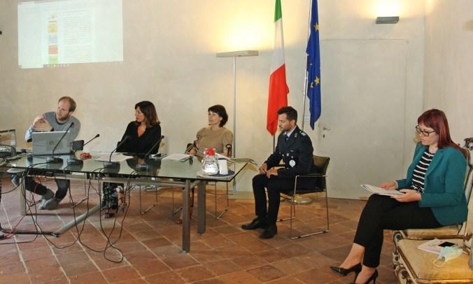 Da sx, Alberto Sartor, Nadia Carboni, Eleonora Proni, David Minguzzi, Mariangela Baroni